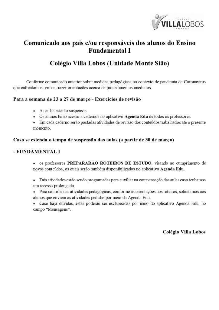 COMUNICADO MONTE SIÃO – Acesso ao Material Online – 1º ao 5º Ano – Fundamental I 3
