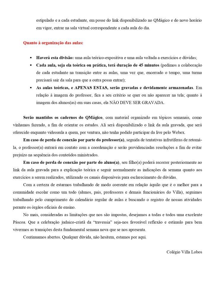 UNIDADE MONTE SIÃO – AULAS AO VIVO 4