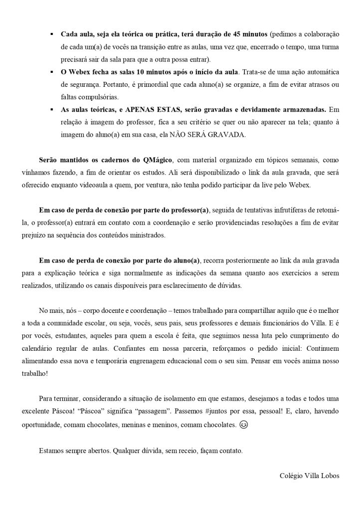 UNIDADE MONTE SIÃO – AULAS AO VIVO 2