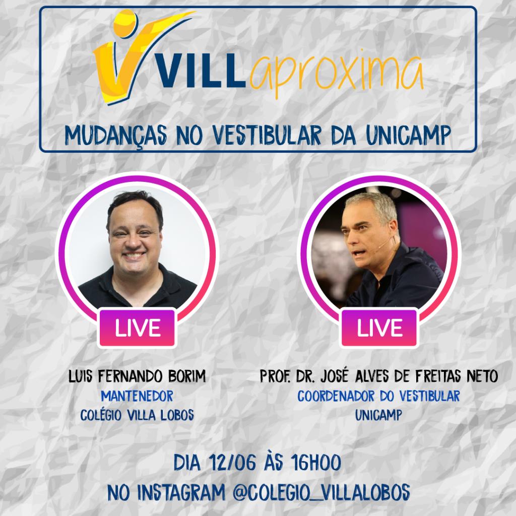 Villa Aproxima Convida Professor Dr. José Alves de Freitas Neto - Coordenador da COMVEST 3